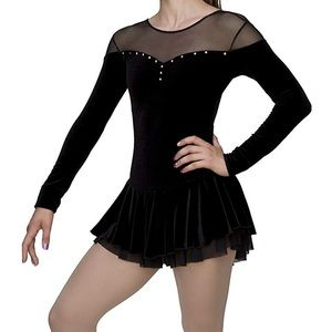 black figure skating dress